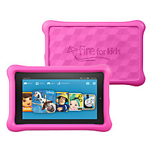 Buy TWO Amazon Fire Kids Edition 7 Tablet, Pink Online at johnlewis.com