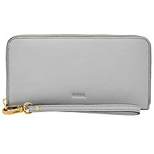 Buy Fossil Emma Leather Large Zip Clutch Bag Online at johnlewis.com