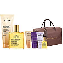 Buy NUXE Dry Oil Huile Prodigieuse® Splash Bottle, 50ml and NUXE Prodigieux® Shower Oil with Golden Shimmer, 200ml: With FREE Gift Online at johnlewis.com