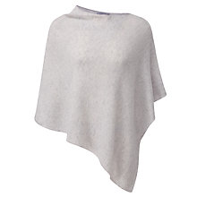 Buy Pure Collection Susan Gassato Poncho, Iced Grey Online at johnlewis.com