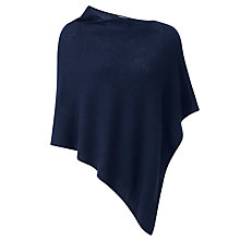 Buy Pure Collection Ruth Gassato Poncho, Navy Online at johnlewis.com
