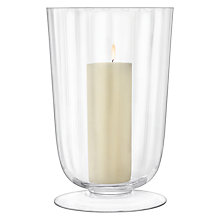 Buy LSA International Light Fluted Hurricane Candle Holder, Large Online at johnlewis.com