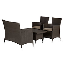 Buy John Lewis Malaga 2-Seat Sofa, 2-Seat Coffee Table & Armchairs (x2), Brown Online at johnlewis.com