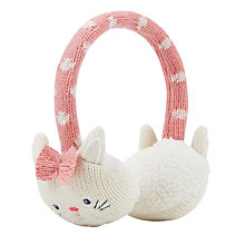 Buy John Lewis Children's Novelty Rabbit Earmuffs, Pink/White Online at johnlewis.com