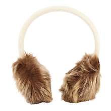 Buy John Lewis Girls' Faux Fur Ear Muffs Online at johnlewis.com