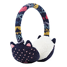 Buy John Lewis Children's Novelty Cat Earmuffs, Navy Online at johnlewis.com