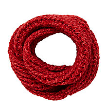 Buy John Lewis Children's Chunky Knit Snood, Red Online at johnlewis.com