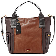Buy Fossil Emerson Leather Satchel Online at johnlewis.com