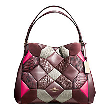 Buy Coach Canyon Quilt Edie Shoulder Bag, Oxblood/Multi Online at johnlewis.com