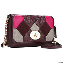 Buy Coach Crosstown Across Body Leather Bag, Oxblood Online at johnlewis.com