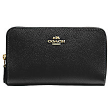 Buy Coach Medium Leather Zip Around Purse Online at johnlewis.com
