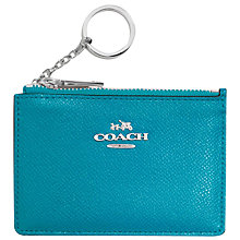 Buy Coach Mini Skinny Leather Card Holder Online at johnlewis.com
