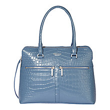 Buy Modalu Pippa Classic Leather Grab Bag, Denim Blue Online at johnlewis.com