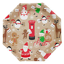Buy Ginger Ray Santa Paper Plates, Pack of 8 Online at johnlewis.com