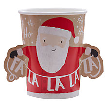 Buy Ginger Ray Santa And Friends Paper Cups, Pack of 8 Online at johnlewis.com