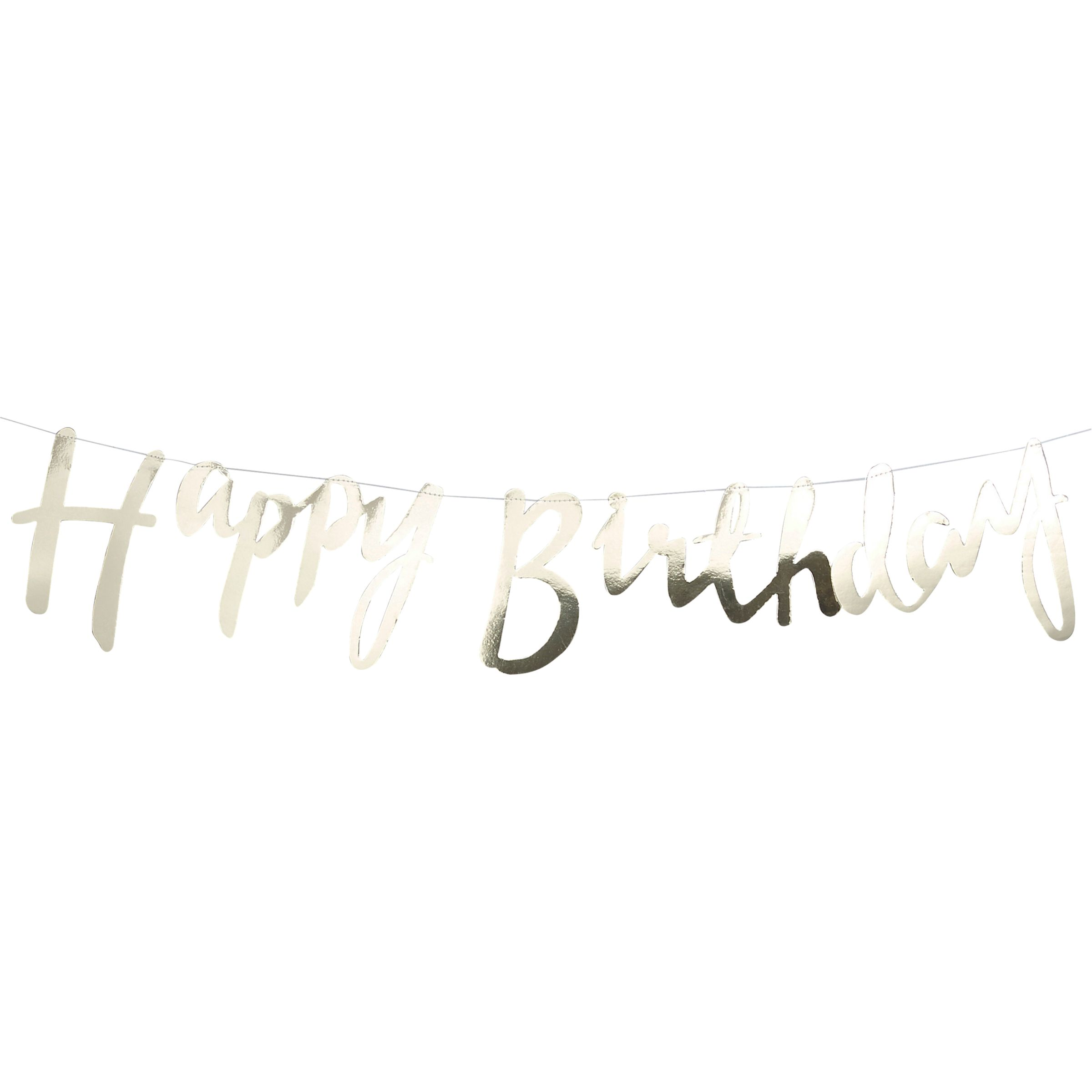 Ginger Ray Ginger Ray Pick and Mix Happy Birthday Foil Banner