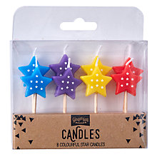 Buy Ginger Ray Colourful Star Birthday Candles, Set of 8 Online at johnlewis.com