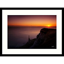 Buy Paul Sanders - Clifftop Sunset Framed Print, 84 x 64cm Online at johnlewis.com