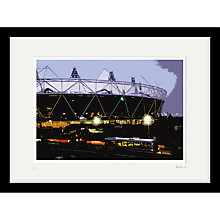 Buy Cath Harries - Limited Edition Olympic Stadium At Night Framed Print, 44 x 58cm Online at johnlewis.com