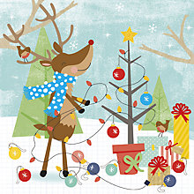 Buy UK Greetings Dancing Reindeer Charity Christmas Cards, Pack of 10 Online at johnlewis.com