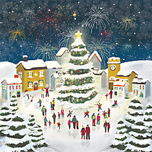 Buy UK Greetings Flittered Skating Scene Charity Christmas Cards, Pack of 8 Online at johnlewis.com