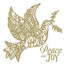 Buy UK Greetings Foiled Dove Charity Christmas Cards, Pack of 8 Online at johnlewis.com