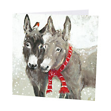 Buy Art Marketing Little Donkeys Charity Christmas Cards, Pack of 6 Online at johnlewis.com
