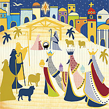 Buy UK Greetings Nativity Scene Charity Christmas Cards, Pack of 10 Online at johnlewis.com