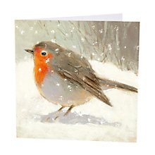 Buy Art Marketing Robin Charity Christmas Cards, Pack of 6 Online at johnlewis.com