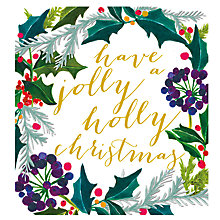 Buy Caroline Gardner Jolly Holly Christmas Charity Christmas Cards, Pack of 5 Online at johnlewis.com
