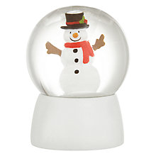 Buy John Lewis Grand Tour Mini Snowman Snow Globe Online at johnlewis.com