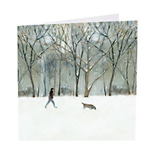 Buy Art Marketing Snow In Central Park Charity Christmas Cards, Pack of 6 Online at johnlewis.com