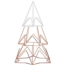 Buy John Lewis Helsinki Large Metal Tree, Copper / White Online at johnlewis.com
