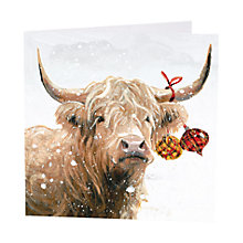 Buy Art Marketing 'Cow' Charity Christmas Cards, Pack of 6 Online at johnlewis.com