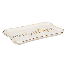 Buy John Lewis Ostravia 'Merry & Bright' Rectangle Dish Online at johnlewis.com