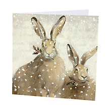 Buy Art Marketing Festive Hares Charity Christmas Cards, Pack of 6 Online at johnlewis.com