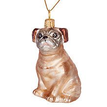 Buy Ostravia Lovable Pug Bauble Online at johnlewis.com