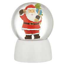 Buy John Lewis Grand Tour Mini Santa Snow Globe Online at johnlewis.com