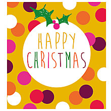 Buy Caroline Gardner Pudding Charity Christmas Cards,  Pack of 5, Gold Glitter Online at johnlewis.com