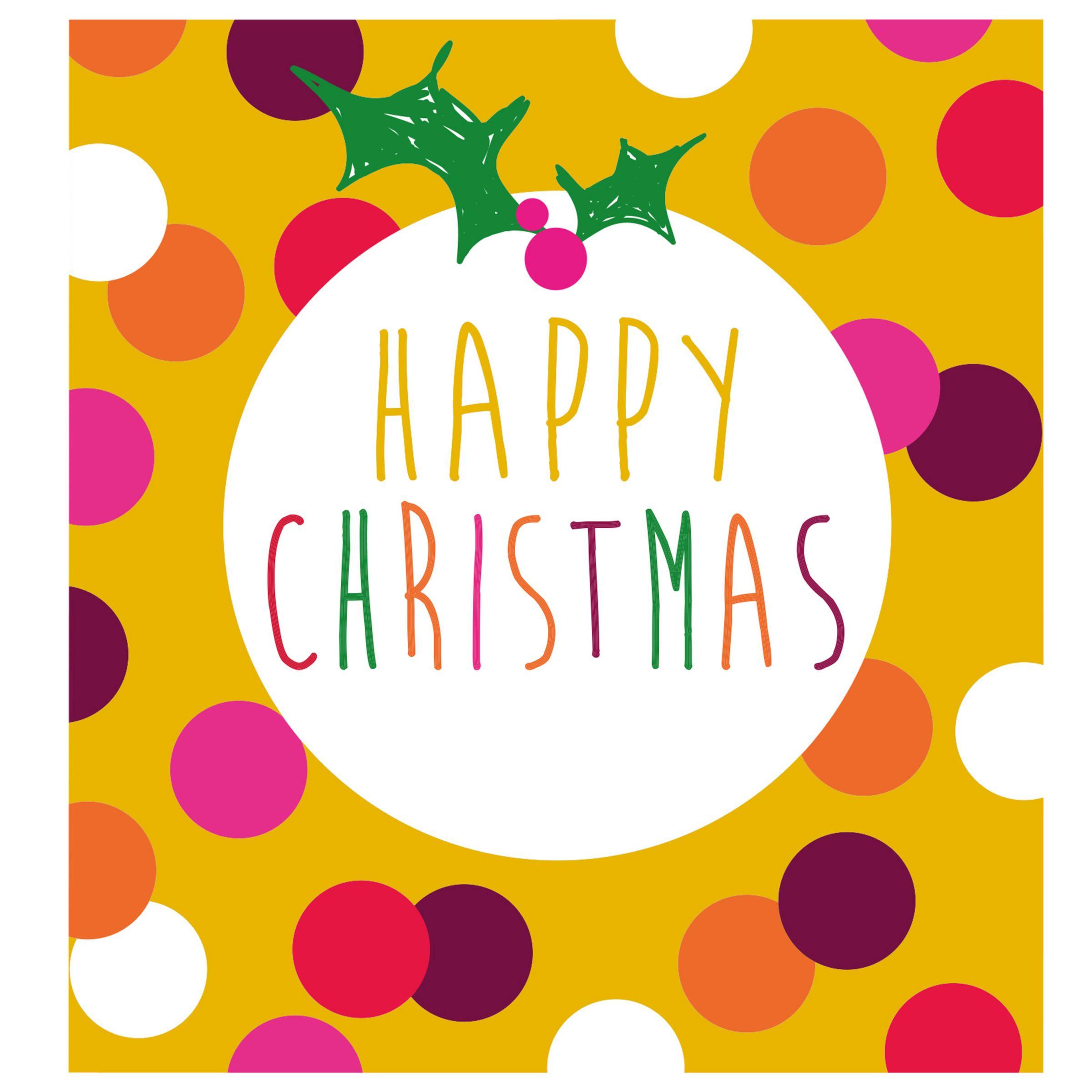 Caroline Gardner Caroline Gardner Pudding Charity Christmas Cards, Pack of 5, Gold Glitter