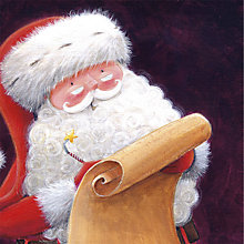 Buy UK Greetings Smiley Santa Charity Christmas Cards, Pack of 10 Online at johnlewis.com