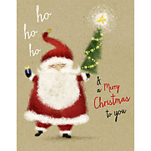 Buy UK Greetings Ho Ho Ho Santa Charity Christmas Cards, Pack of 12, Mini Online at johnlewis.com