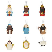 Buy John Lewis Claydough 3D Nativity Character Tree Decorations, Set of 9 Online at johnlewis.com