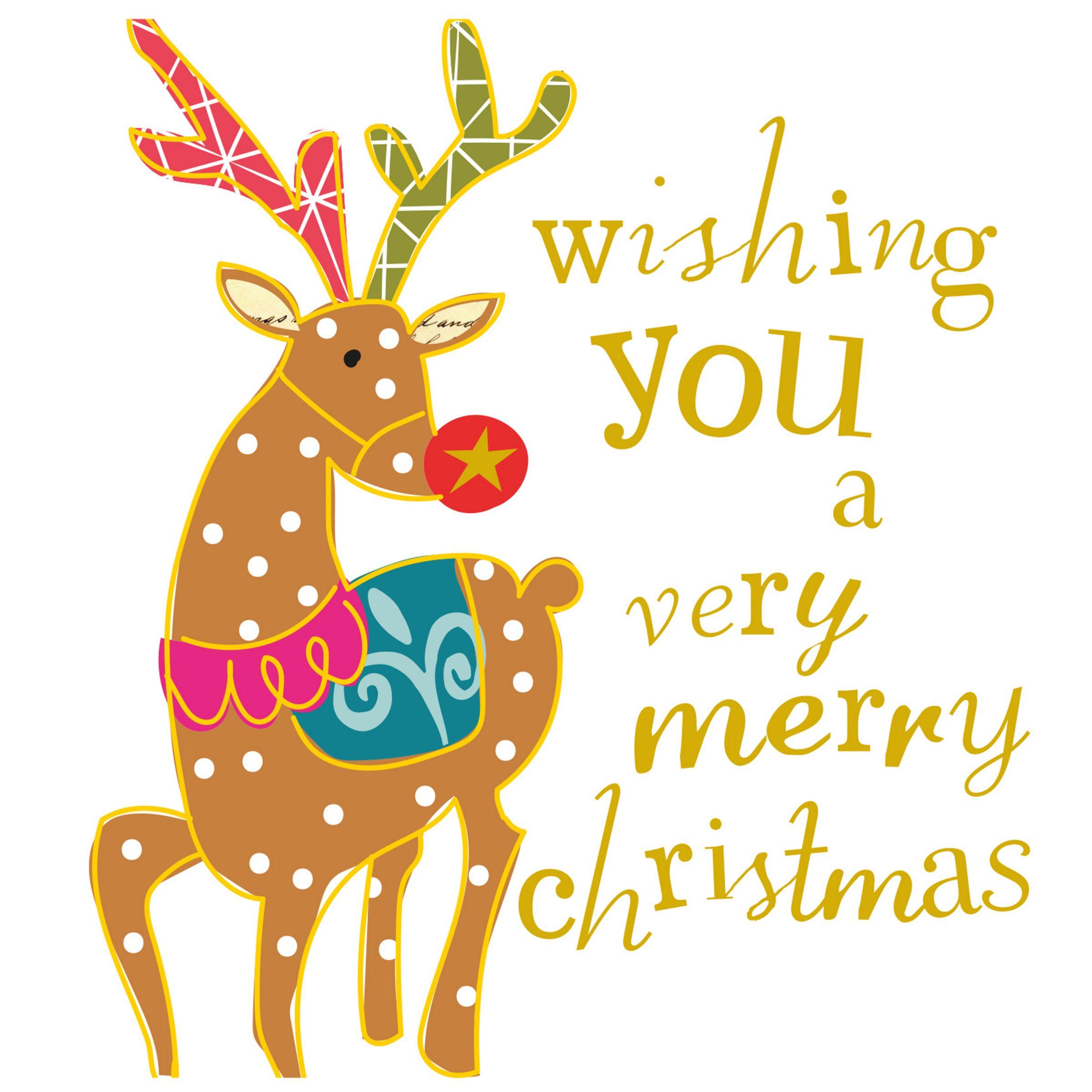 Caroline Gardner Caroline Gardner Merry Christmas Stag Charity Christmas Cards, Pack of 5