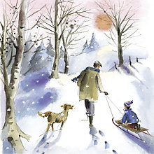 Buy UK Greetings Winter Walkies Charity Christmas Cards, Pack of 10 Online at johnlewis.com