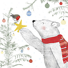 Buy UK Greetings Polar Bear And Robin Charity Christmas Cards, Pack of 8 Online at johnlewis.com