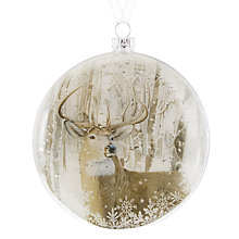 Buy John Lewis Snowshill Stag Winter Scene Bauble Online at johnlewis.com