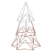 Buy John Lewis Helsinki Small Metal Tree, Copper / White Online at johnlewis.com