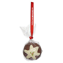 Buy The Cocoabean Company Christmas Pud Chocolate Bauble, 60g Online at johnlewis.com