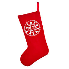Buy John Lewis Chamonix Felt Stocking, Red Online at johnlewis.com